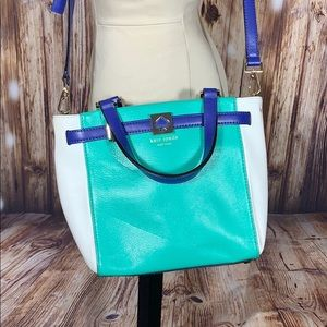 Kate Spade Bright Teal White Blue Crossbody